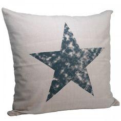 Cushion cover with star - www.nostalgifyn.dk