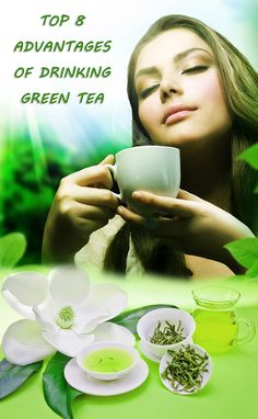 Drinking one cup of green tea have many health advantages, here I am listing the top 8 advantages of green tea please enjoy the taste of green tea, without adding additives as sugar to get the maximum benefits