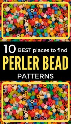 The ultimate Perler Bead guide. Covers supplies needed, finding Perler Bead patterns, how to iron Perler Beads and much more. Easy Perler Bead Patterns, Melty Bead Patterns, Bead Embroidery Patterns, Diy Perler Beads, Perler Bead Art, Weaving Patterns, Pearler Beads, Mosaic Patterns, Knitting Patterns