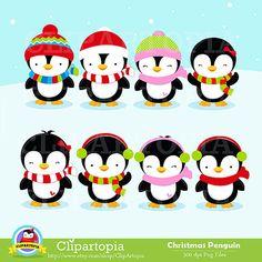 Penguin digital clipart by ClipArtopia