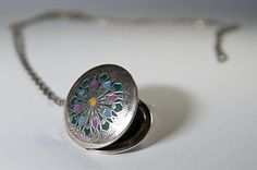 Necklace locket old style jewelry tibetian by AndreaBacmanJewelry, $62.00