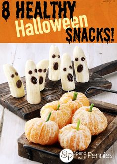 8 Fun and easy Halloween snacks for kids... they won't even miss the sugar!!