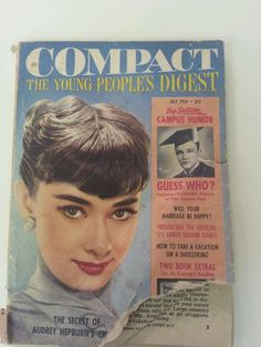 July 1954 cover with the late Audrey Hepburn
