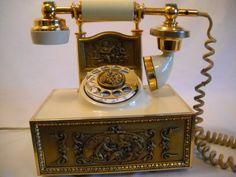 Vintage French Victorian Rotary Deco Tel Phone. $49.95, via Etsy.