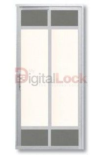 PVC Slide and Swing Toilet Door - Model H 7038 | Door-Gate-Singapore
