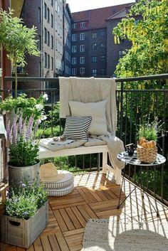 déco sa terrasse, amenager terrasse idée, terrasse en ville avec belle vue