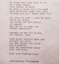 Christopher Poindexter #quotes #poems