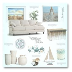 """""""Beach"""" by jana-masarovicova ❤ liked on Polyvore featuring interior, interiors, interior design, home, home decor, interior decorating, Nearly Natural, Palecek, Pier 1 Imports and livingroom"""