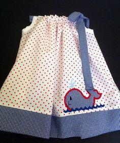 What a cute little whale pillowcase dress!!! Oh SO ADORABLE!