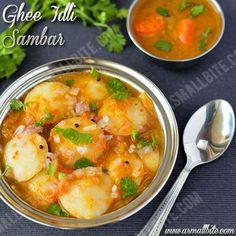 Ghee Idli Sambar Recipe