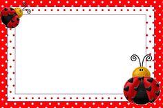 Let's Party - Ladybug - Onofer-Köteles Zsuzsánna - Picasa-Webalben Printable Invitation Templates, Templates Printable Free, Printables, Baby Ladybug, Ladybug Party, Ladybug Invitations, Easy Crafts, Crafts For Kids, Rainbow Cartoon