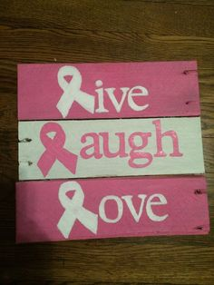 Cancer Ribbon Pallet Sign