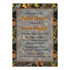 Brown - Camo Bridal Shower Invitations