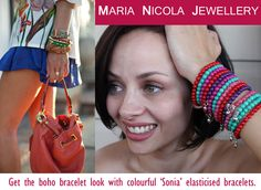Get the boho bracelet looks with the 'Sonia' bracelets by Maria Nicola.