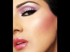 ARABIC MAKEUP ****Bright Pink Purple Arabic Makeup: Collaboration