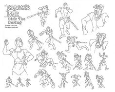 More Dirk model sheets from Dragons Lair
