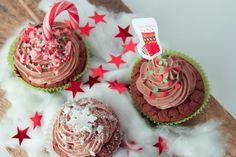 Weihnachts-Cupcakes mit Schokobuttercreme | BABÄM