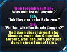 Immer diese Tunnel... :P #SportistMord #guteLaune #lachen #Sprüche #Humor #faul