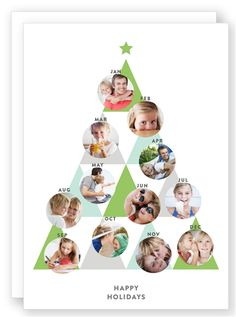 Triangle Phototree - Winter Card