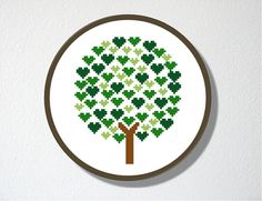 Counted Cross stitch Pattern PDF. Tree of Hearts. Includes easy beginner instructions.. $4.00, via Etsy.