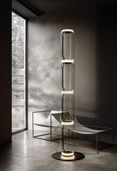 Flos Noctambule Floor Lamp With 3 Cylinders, Bowl And Base By Konstantin Grcic - All For Decoration