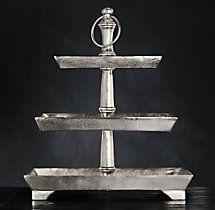 Grand brasserie cast 3 tiered tray