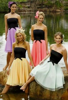 Bridemaids dresses. Love this idea if I could get khaki up top and my colors on the bottom!!