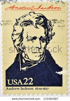 US Stamp - Andrew Jackson 7th US President 1829-1837