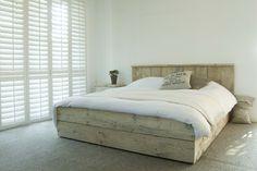 Steigerhout bed, bed van steigerhout Huis en interieur - Bedden
