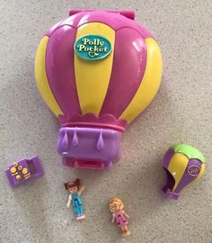 Vintage Up Up And Away Polly Pocket 100% Complete 1997 Hot Air Balloon HTF | eBay