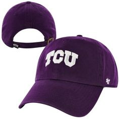 '47 Brand TCU Horned Frogs Clean Up Adjustable Hat - Purple