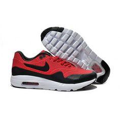 wholesale dealer eab4f 725a4 Mens Nike Air Max 1 Ultra Moire CH Shoes Red Black Cheap Nike Air Max,