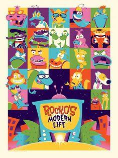 Rocko's Modern Life Classic Cartoon Nickelodeon 90s Set of 2 Key Chains