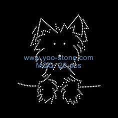 Popular Iron On Patch, Dog Rhinestone Transfers Motifs
