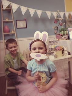 Fun Easter photo booth props