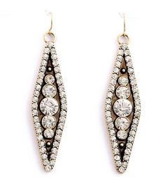 J.Crew crystal earrings trendy Bronze Color and clear Crystal wedding bridesmaid #JCrew #DropDangle