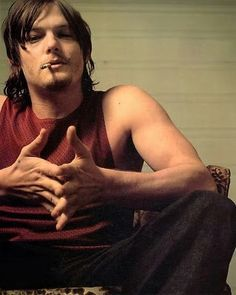 Norman Reedus, I would definitely want this guy around in a zombie apocalypse ;)