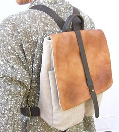 Hey, I found this really awesome Etsy listing at https://www.etsy.com/listing/178866955/beige-and-tan-backpack-leather-and