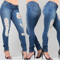 PZI ELLEN DISTRESSED SKINNY JEAN. PZI is dedicated to making comfortable and stylish jeans for curvy women.