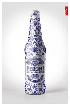 "Peroni - Special Edition Proposal Peroni is an Italian beer brand under SABMiller group and was entering the China market, with a positioning of fashion beer. Thinking about fashion, we interpreted its ultimate form to be ""Art"". The representative of Chinese Art, undoubtedly, will be china. We attempted to fusion Peroni beer with the material porcelain. The design was executed on a greeting card for Peroni's clients and partners during Chinese New Year."