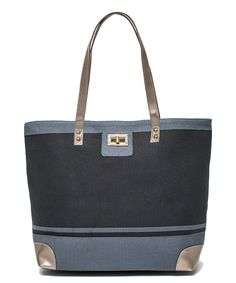 Love this Thursday Friday Gray & Black Color Block Tote by Thursday Friday on #zulily! #zulilyfinds