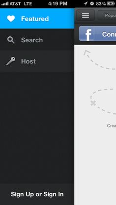 Airbnb iPhone custom navigation screenshot