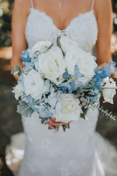 Lux & Union is a creative floral design studio based in Charleston, SC., specializing in wedding and special event floral work. Bridal Bouquet Blue, Blue Bridal, Charleston, Special Events, Floral Design, Wedding Dresses, Lace, Creative, Fashion