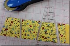 Using the Dresden ruler to cut tumblers in a variety of sizes - Bonnie Hunter Quilting Rulers, Quilting Tips, Quilting Tutorials, Machine Quilting, Quilting Projects, Dresden Plate Patterns, Dresden Plate Quilts, Star Quilt Patterns, Tumbler Quilt