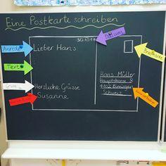 """Gefällt 86 Mal, 3 Kommentare - Teacher's Box (@teachers_box) auf Instagram: """"Eine #postkarte schreiben. Bin so stolz auf mein selbsterstelltes #arbeitsblatt und #wandtafel -…"""""""
