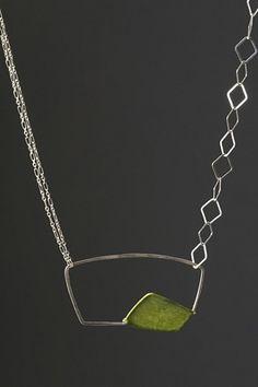 Suspended Diamond. Make w/ copper form in corner of silver square.