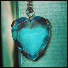 #necklance #heart #cuore #blue #lightblue #ocean #oceano #collana