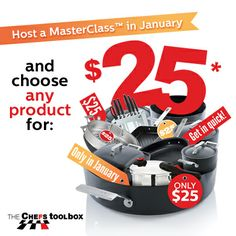 January 2014 Hostess rewards. Amazing offers and great products for only $25 (based on $500 guest sales and 1 booking) Book your masterclass today   0418 334909