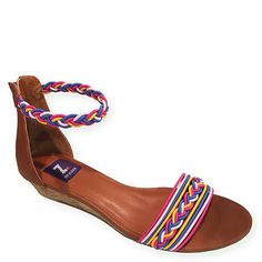 ecd16572c42 The Felicity wedge sandal s bright cord elastic straps bend and stretch for  cute comfort.