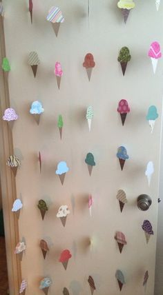 Ice Cream Decoration or Ice Cream Garland for Birthday Party, Ice Cream Party or Backdrop for Photos - Super Cute